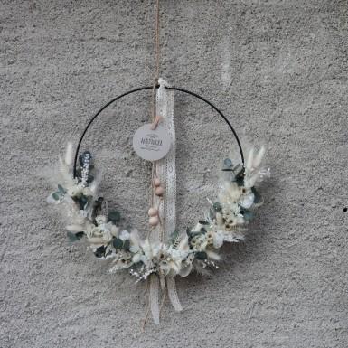 Cercle en fleurs séchées